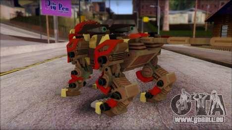 Liger Zero Zoids für GTA San Andreas zweiten Screenshot