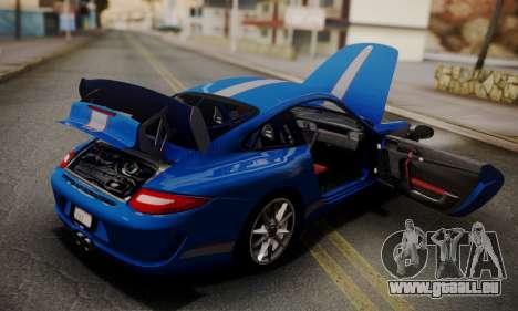 Porsche 911 GT3 RS4.0 2011 für GTA San Andreas Unteransicht