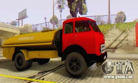 MAZ 500A Bowser pour GTA San Andreas vue de droite