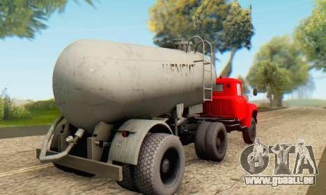 Trailer cement carrier TTC 26 für GTA San Andreas linke Ansicht