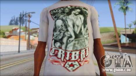 Tribal tee Mouse Inked White T-Shirt für GTA San Andreas dritten Screenshot