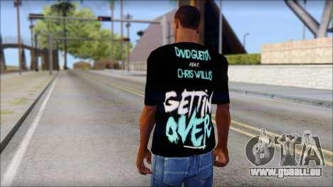 David Guetta Gettin Over T-Shirt für GTA San Andreas zweiten Screenshot