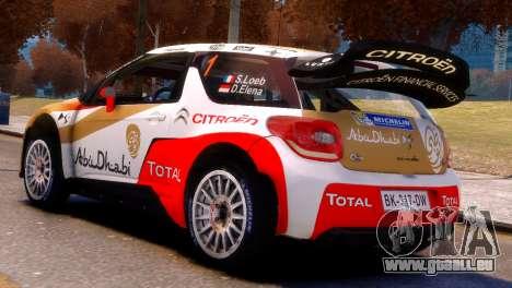 Citroen DS3 WRC pour GTA 4 est une gauche