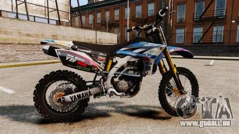 Yamaha YZF-450 v1.14 pour GTA 4 est une gauche