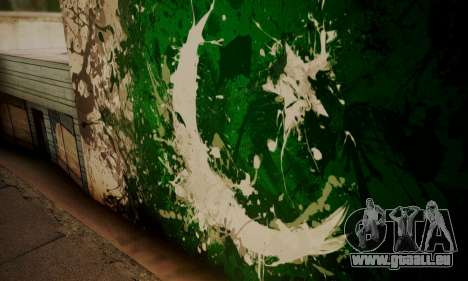 Pakistani Flag Graffiti Wall pour GTA San Andreas troisième écran