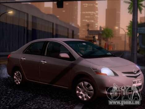 Toyota Yaris 2008 Sedan pour GTA San Andreas moteur