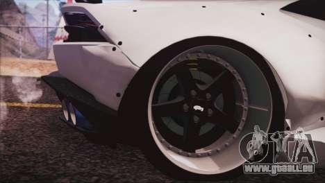 Lamborghini Huracan Liberty Walk pour GTA San Andreas sur la vue arrière gauche