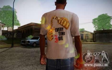Everytime I Die T-Shirt für GTA San Andreas zweiten Screenshot