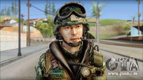 Forest UDT-SEAL ROK MC from Soldier Front 2 für GTA San Andreas dritten Screenshot