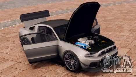 Ford Mustang GT 2014 Custom Kit für GTA 4 Rückansicht