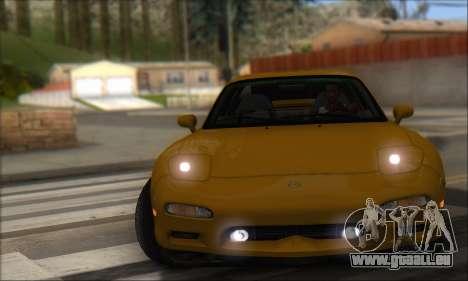 Mazda RX-7 1991 pour GTA San Andreas sur la vue arrière gauche