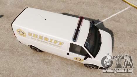 Vapid Speedo Los Santos County Sheriff [ELS] für GTA 4 rechte Ansicht