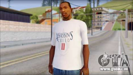 Assassins Creed 3 Fan T-Shirt für GTA San Andreas