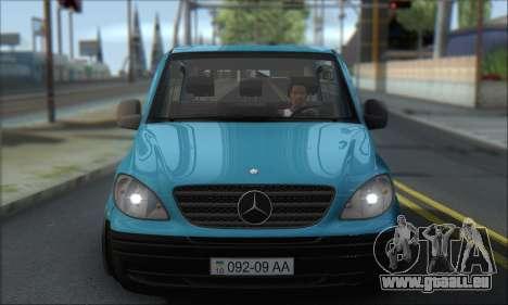 Mercedes-Benz 115 CDI Vito 2007 Stance pour GTA San Andreas vue arrière
