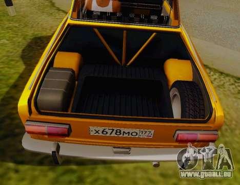 VAZ 2101 Ramassage pour GTA San Andreas vue arrière