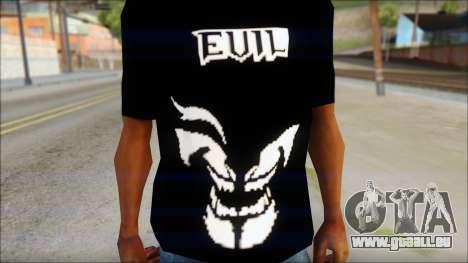 Evil T-Shirt pour GTA San Andreas troisième écran