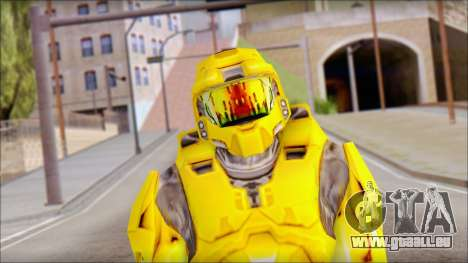 Masterchief Yellow from Halo für GTA San Andreas dritten Screenshot