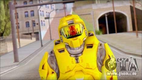 Masterchief Yellow from Halo pour GTA San Andreas troisième écran