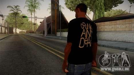 Crunk Aint Dead Shirt Black für GTA San Andreas zweiten Screenshot