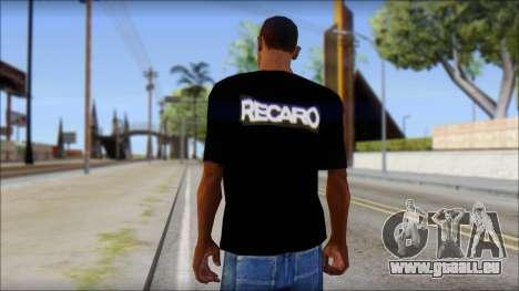 Recaro T-Shirt für GTA San Andreas zweiten Screenshot