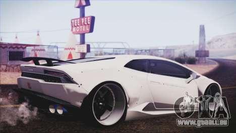 Lamborghini Huracan Liberty Walk pour GTA San Andreas laissé vue