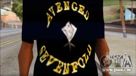A7X Golden Deathbat Fan T-Shirt pour GTA San Andreas troisième écran