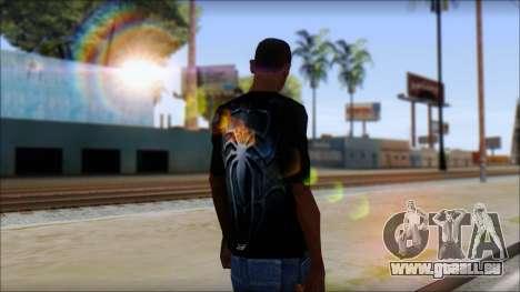 Spiderman 3 T-Shirt pour GTA San Andreas deuxième écran