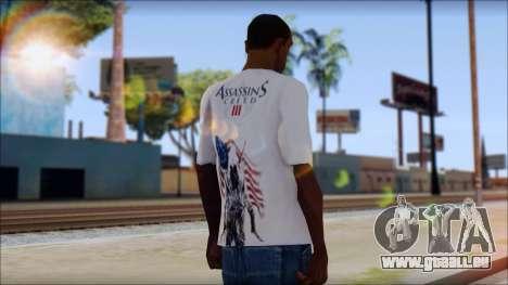 Assassins Creed 3 Fan T-Shirt pour GTA San Andreas deuxième écran