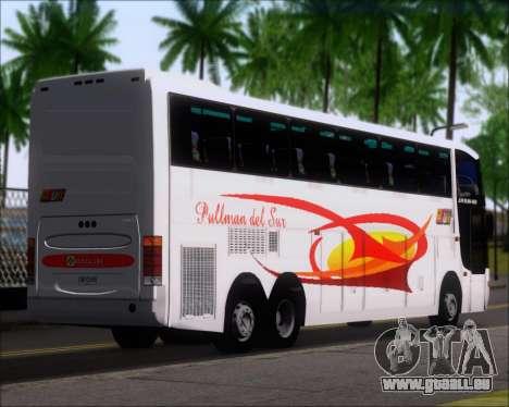 Busscar Jum Buss 400 Volvo B10R Pullman Del Sur für GTA San Andreas zurück linke Ansicht