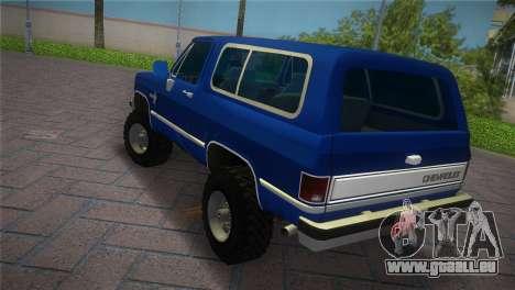 Chevrolet Blazer K5 Silverado 1986 für GTA Vice City linke Ansicht