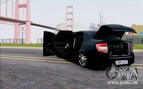 Lada 2190 Granta pour GTA San Andreas vue arrière