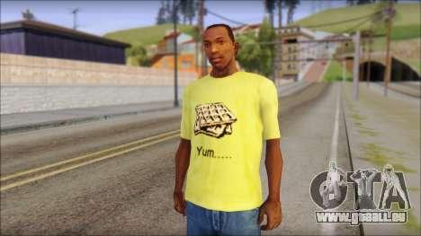 Waffle T-Shirt für GTA San Andreas