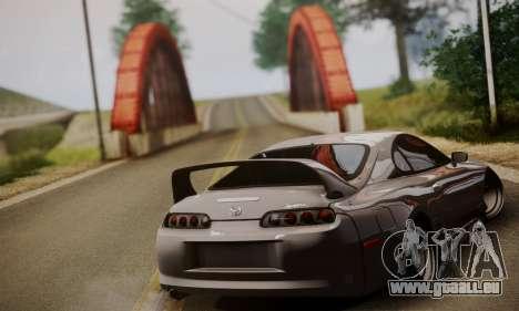 Toyota Supra Stock pour GTA San Andreas laissé vue