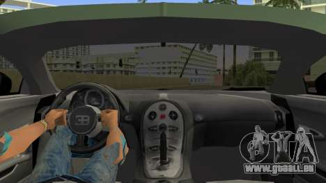 Bugatti Veyron für GTA Vice City zurück linke Ansicht