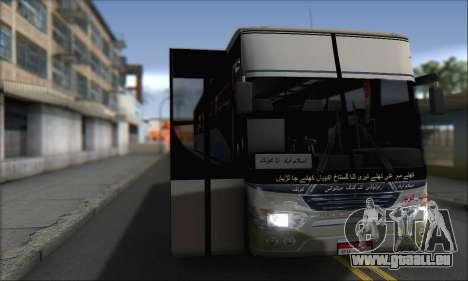 Sada Bahar Coach pour GTA San Andreas sur la vue arrière gauche