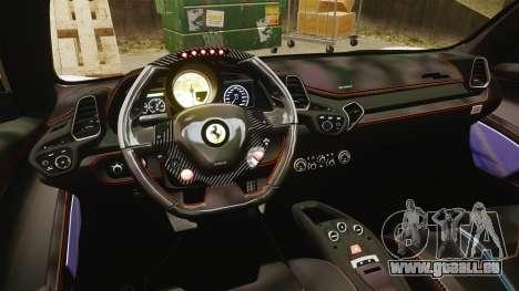 Ferrari 458 Italia Speciale Novitec Rosso für GTA 4 Seitenansicht