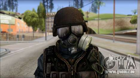 Tactical GIGN from Soldier Front 2 für GTA San Andreas dritten Screenshot