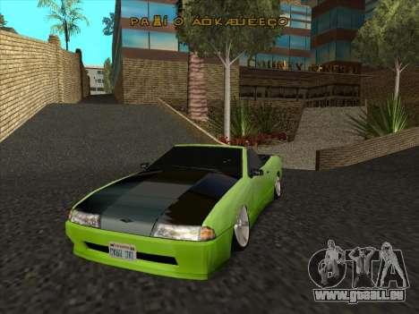 Elegy Cabrio HD für GTA San Andreas Seitenansicht