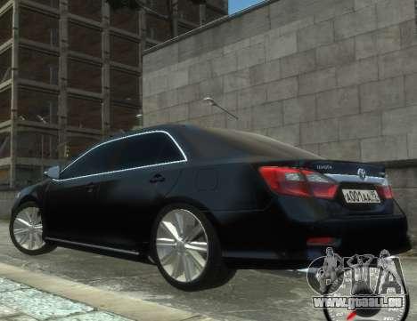 Toyota Camry 2013 für GTA 4 hinten links Ansicht