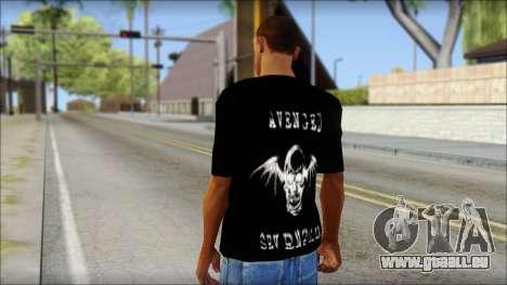 A7X Waking The Fallen Fan T-Shirt pour GTA San Andreas deuxième écran