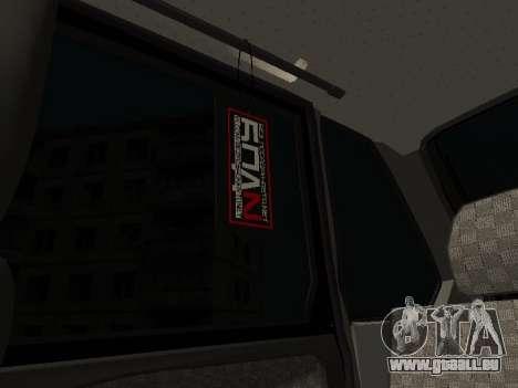 VAZ 2114 pour GTA San Andreas vue de dessus