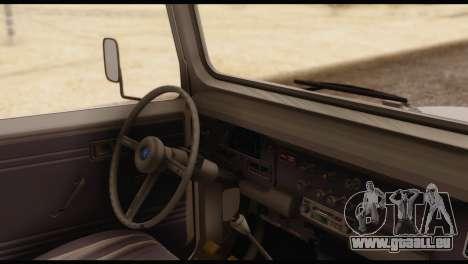 Toyota Land Cruiser (FJ40) 1978 pour GTA San Andreas sur la vue arrière gauche
