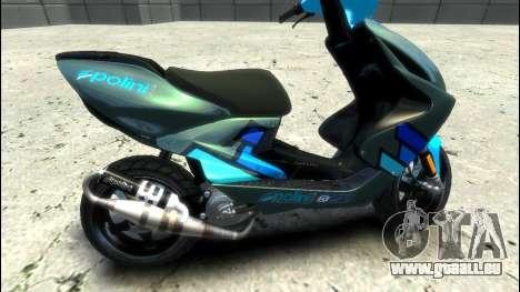 Yamaha Aero X Polini pour GTA 4 est une gauche
