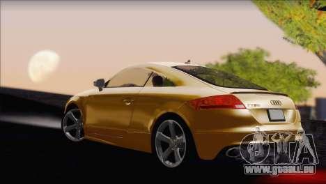 Audi TT RS v2 2011 pour GTA San Andreas laissé vue