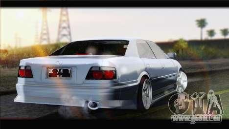 Toyota Chaser Tourer Stock v1 1999 pour GTA San Andreas laissé vue
