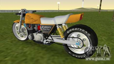 Kawasaki Z400FX Street Drag Racer pour une vue GTA Vice City de la gauche