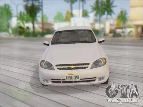 Chevrolet Lacetti für GTA San Andreas obere Ansicht