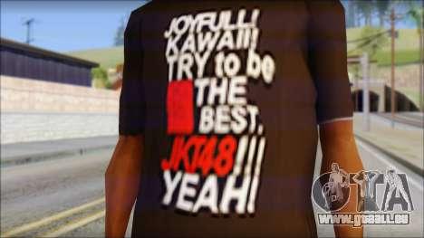 JKT48 Joyfull Kawai Shirt pour GTA San Andreas troisième écran