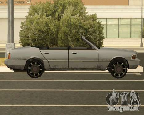 Sentinel Cabrio für GTA San Andreas linke Ansicht