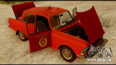 Moskvich U pour GTA San Andreas vue intérieure